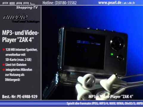 auvisio MP3- & Video-Player mit SD-Kartenleser