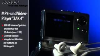 """auvisio MP3- & Video-Player mit SD-Kartenleser """"ZAK 4"""""""
