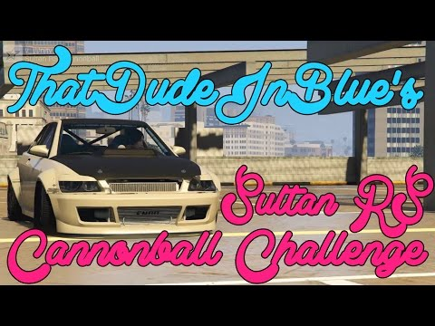 The SULTAN RS RECORD CHALLENGE!-GTAV Cannonball Run! (v Unity [4:36 mins])