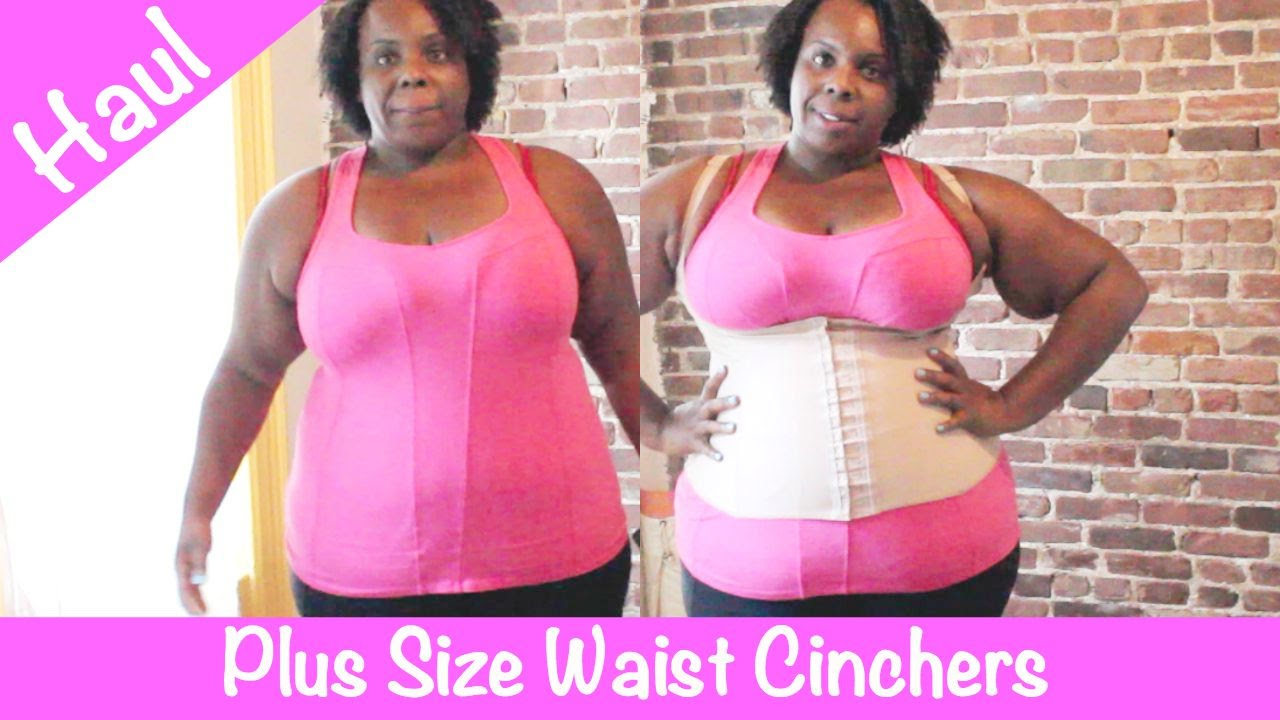 plus size waist cincher: try on haul + giveaway! - youtube
