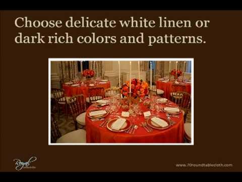 70 Round Tablecloth   Elegant Table Settings