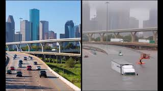 Houston (Texas) 2017 - Before and After Hurricane Harvey Flooding