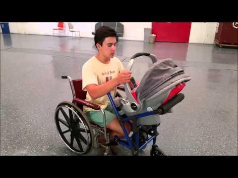 16-Year-Old Invents Wheelchair-Stroller for Paraplegic Parents