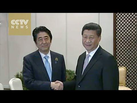 Xi Jinping meets Shinzo Abe, calls for better ties