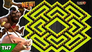 CLASH OF CLANS | BEST TH 7 HYBRID BASE WITH REPLAYS | NEW TOWN HALL 7 FARMING / TROPHY BASE 2018!!