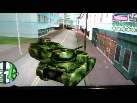 GTA Vice City Stories Epic Tank Chase, Me vs Police and the Army on my PSP