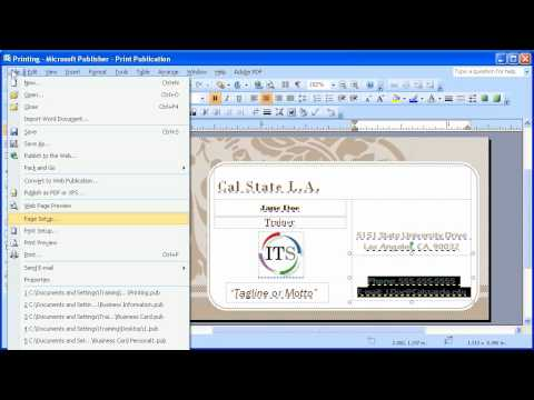 1 6 Microsoft Publisher 2007 Edit and Print Business Cards - YouTube