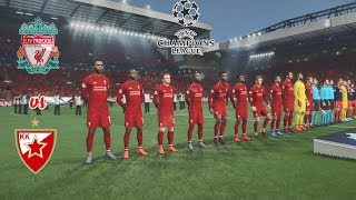 Liverpool vs FK Crvena Zvezda | UEFA Champions League 2018/19 [ UCL ] | PES Gameplays PC