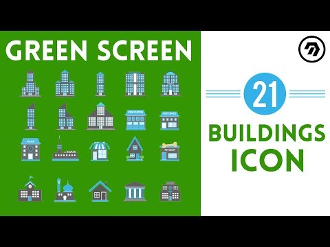 21 Green Screen buildings Icon | mrstheboss