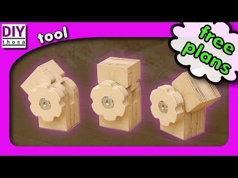 How to make a Wooden Hinge - FREE PDF PLAN DOWNLOAD