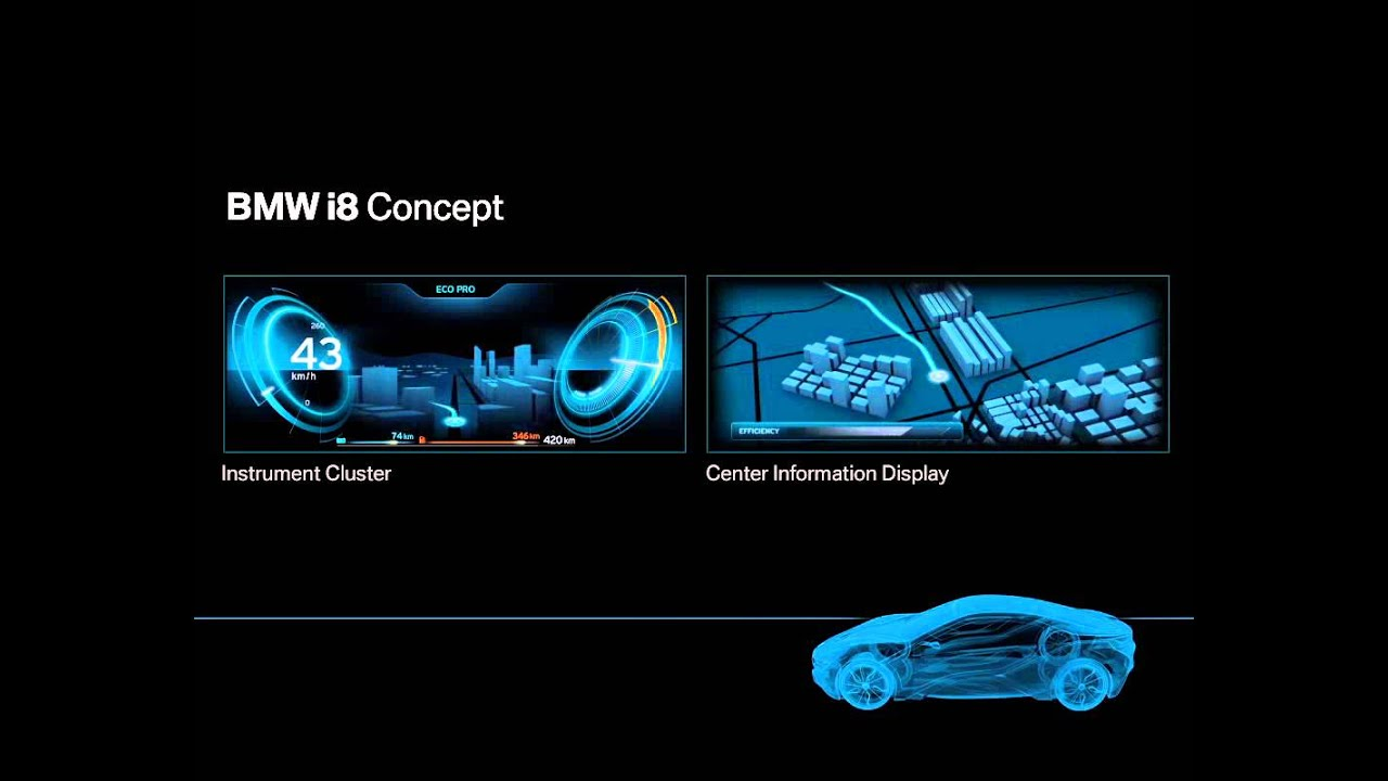 Bmw I8 Center Information Display Youtube