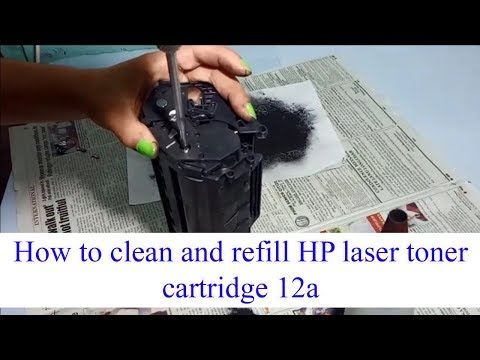 How to clean and refill HP laser toner cartridge 12a