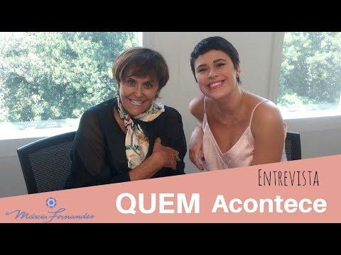Márcia Fernandes Respondendo Perguntas na Revista QUEM ACONTECE 01032018