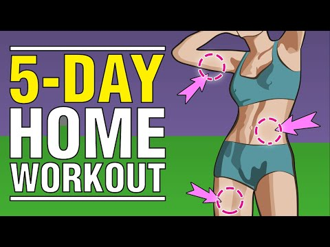5-Day Home Workout: FULL BODY Exercises