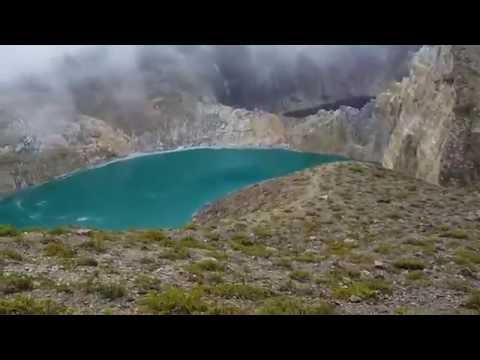 The Three Colored Lakes of Mount Kelimutu