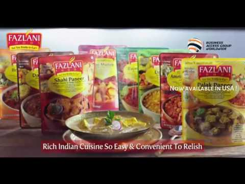 Fazlani Exports - Fazlani Foods now available in USA. Ready to Eat Indian Food- BAG Worldwide
