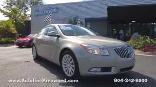 Autoline Preowned 2011 Buick Regal CXL RL6 For Sale Used Walk Around Review Test Drive Jacksonville