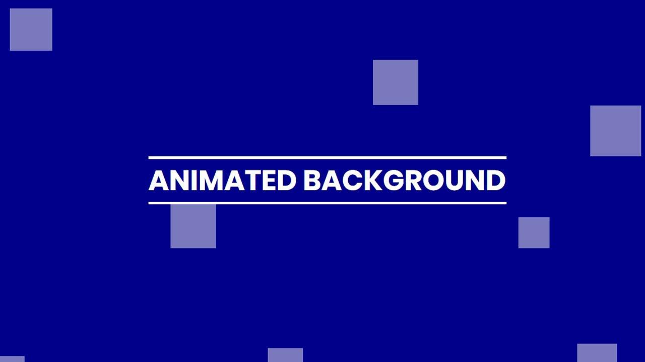 Pure CSS Animated Background Animation | No Javascript no ...