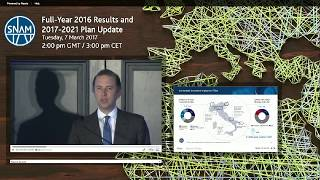 snam 2016 full year results and 2017 2021 plan update