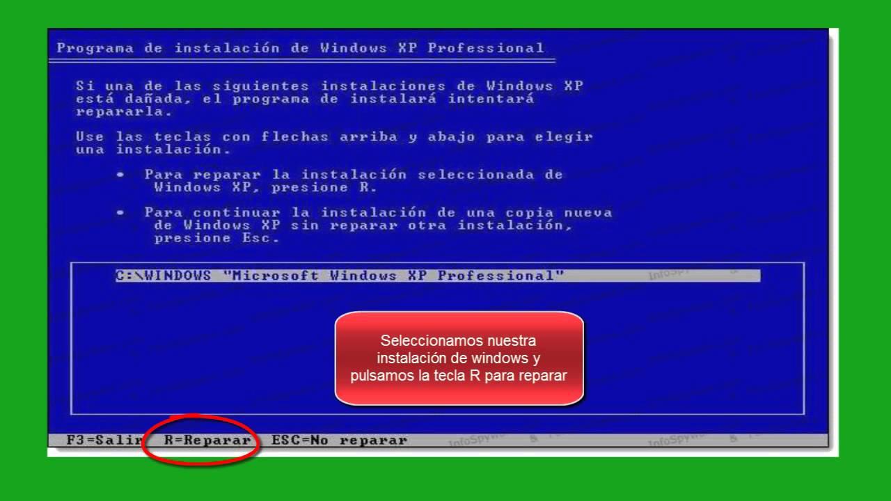 Reparar pc | sin formatear | no entra en windows xp | chkdsk.