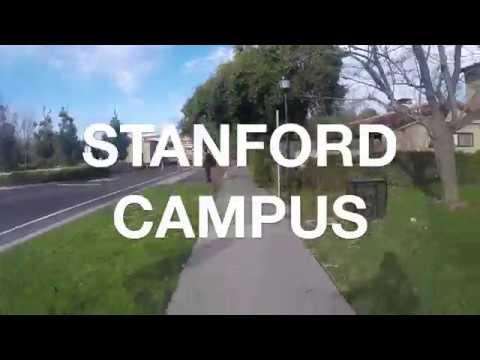 stanford campus on bike // go pro