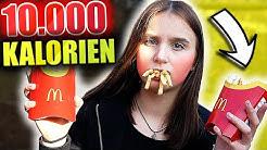 Ich esse 10.000 KALORIEN in 24 STUNDEN ! 🍔🍟 - Celina