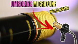 Unboxing Microfone BM 800 do (mercado livre)