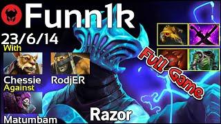 Funn1k plays Razor!!! Dota 2 Full Game 7.20