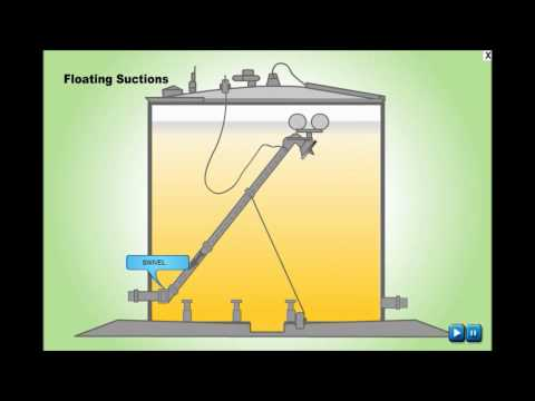 Storage Tank Floating Suction Working Animation Video
