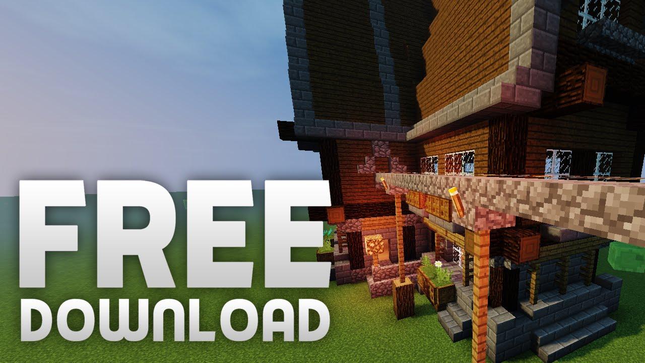 FREE DOWNLOAD Minecraft Mittelalter Haus Dewiron YouTube - Minecraft hauser download kostenlos