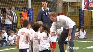 Cheers greet Prince Harry in Belo Horizonte