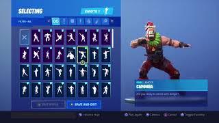 Fortnite Sgt. Winter skin reindeer llama head with all emotes