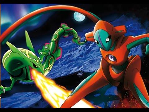 Pokemon Rayquaza Vs Deoxys Amv 1080p Youtube