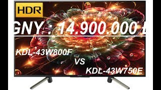 SONY KDL-43W800F ANDROID TV MotionflowXR 200 NEW 2018 REVIEW