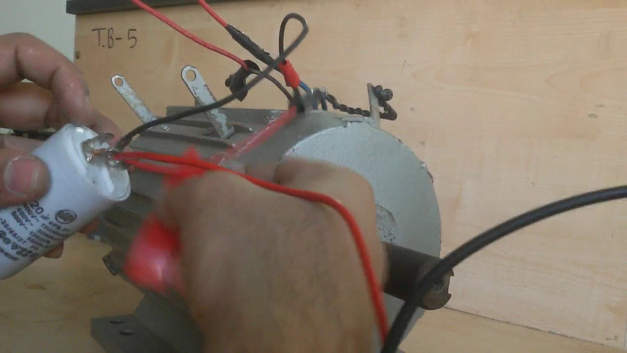 Single Phase Induction Motor Connection - YouTube