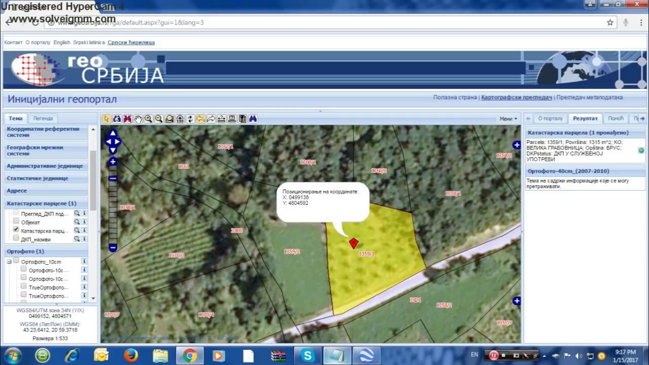 Kako Pronaci Katastarsku Parcelu Na Portalu Geosrbija Tutorijal 1