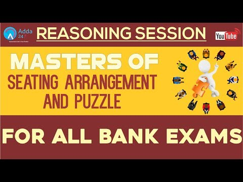 Master Of Seating Arrangement & Puzzle For All Bank Exams | Reasoning