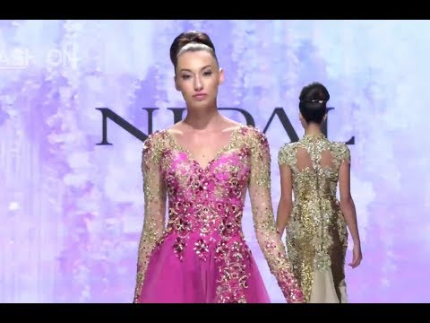 NIDAL HAUTE COUTURE Spring Summer 2018 Art Hearts Los Angeles - Fashion Channel