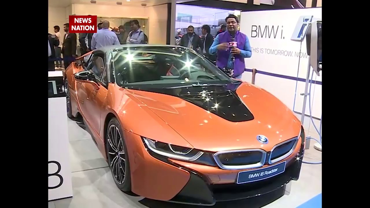 Auto Expo 2018 Bmw Unveils Hybrid Car I8 Roadster In India Youtube