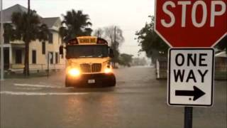 Heavy rains cause massive street flooding in Brownsville
