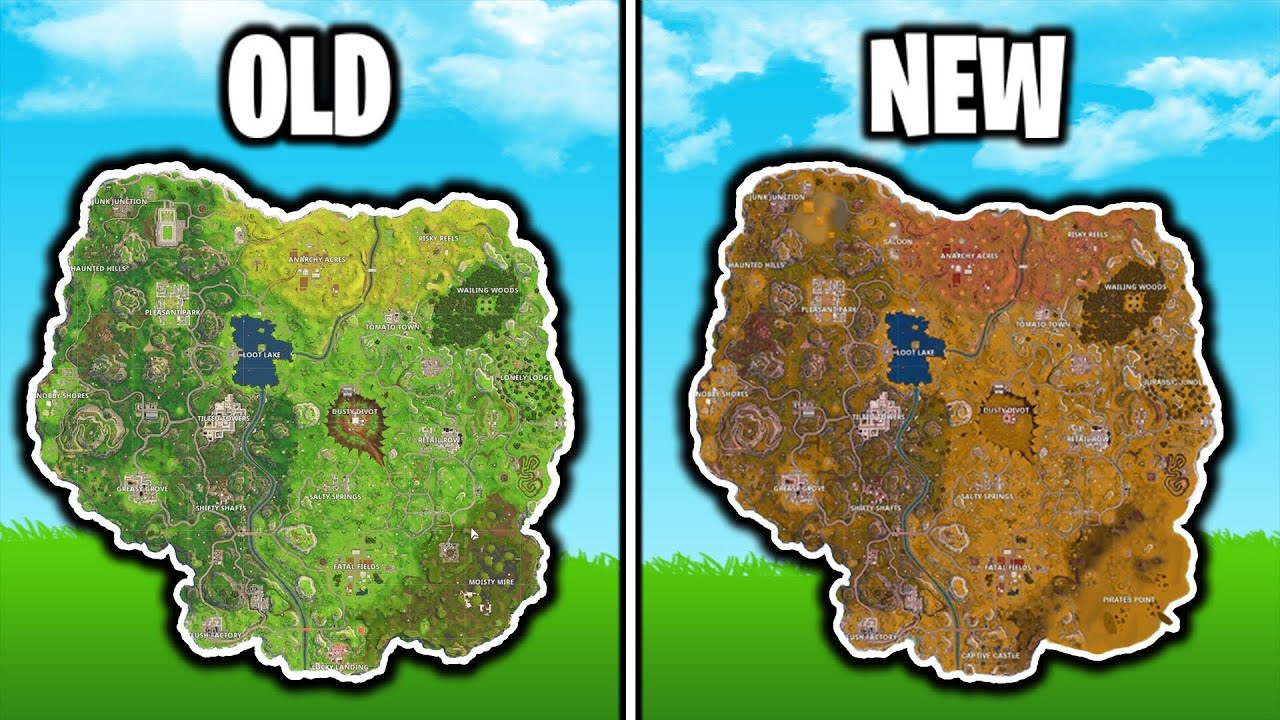 Fortnite New Season 5 Map Gameplay Season 5 Map Changes Fortnite