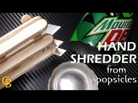 HAND SHREDDER from popsicles easy diy gadget project