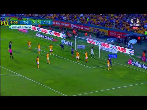 Gol de B. Valdez | Tigres UANL 0 - 1 América | LIGA Bancomer MX - Apertura 2018 - Jornada 12