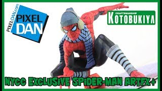 Winter Gear Spider-Man Kotobukiya ArtFX+ NYCC Exclusive Statue Video Review
