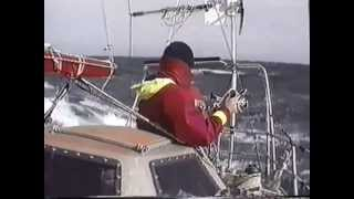 Sailing around the world solo by roaring forties. Alain Kalita.