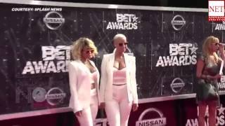 Amber Rose, Blac Chyna Kiss On 2015 Bet Awards Red Carpet