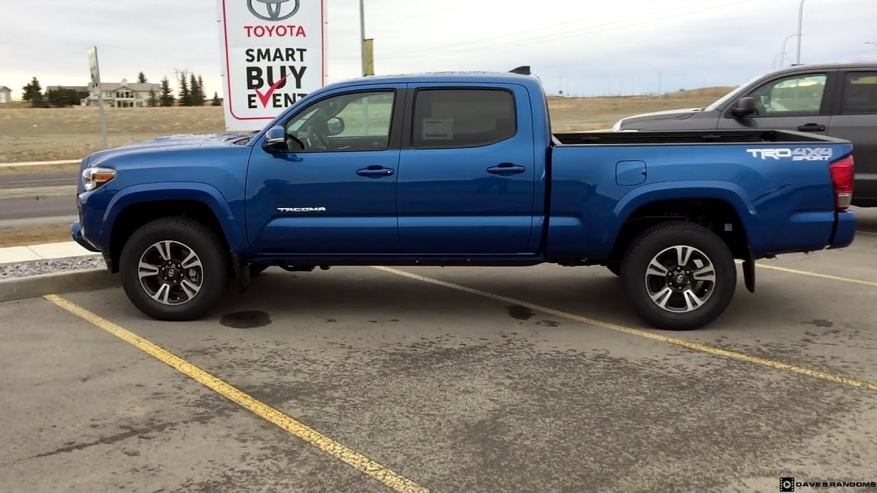 2016 Toyota Ta a Double Cab TRD Sport in Blazing Blue Metallic