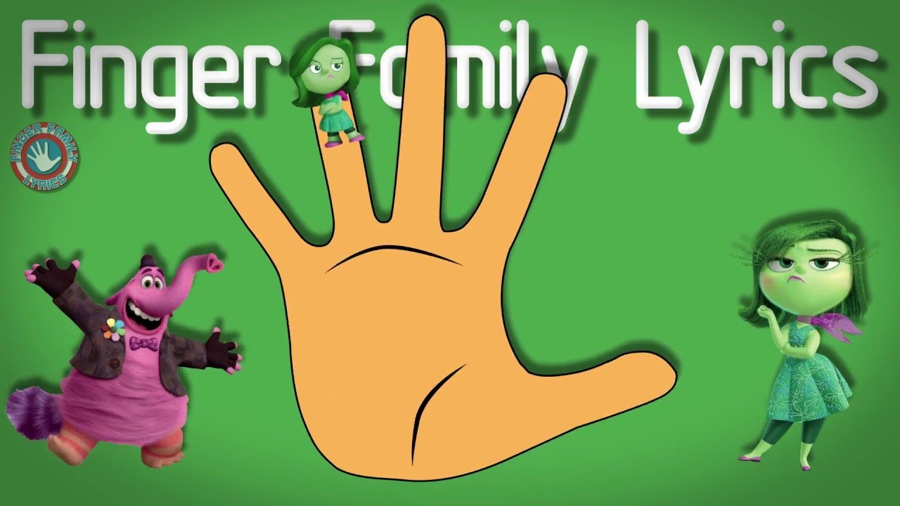 Inside Out Finger Family. Inside Out Nursery Rhymes Lyrics