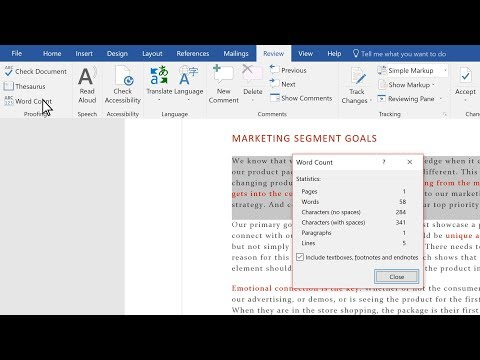 Check Your Word Count In Microsoft Word
