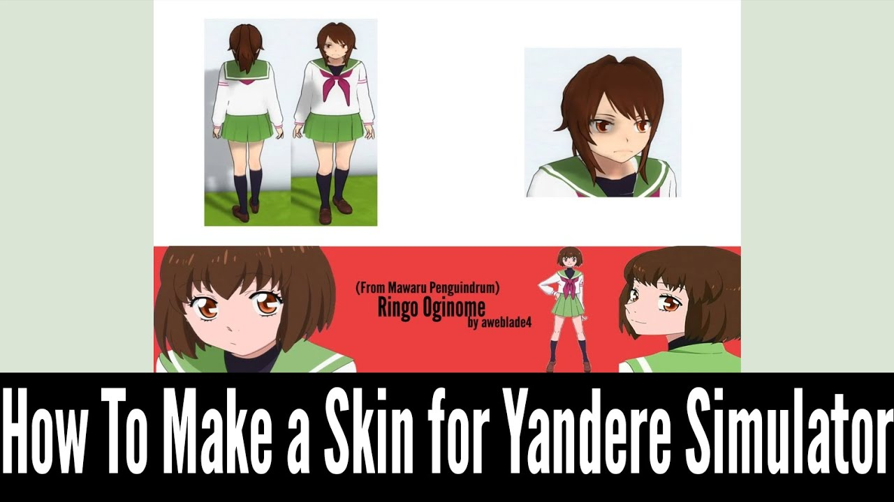 How to Make a Skin for Yandere Simulator